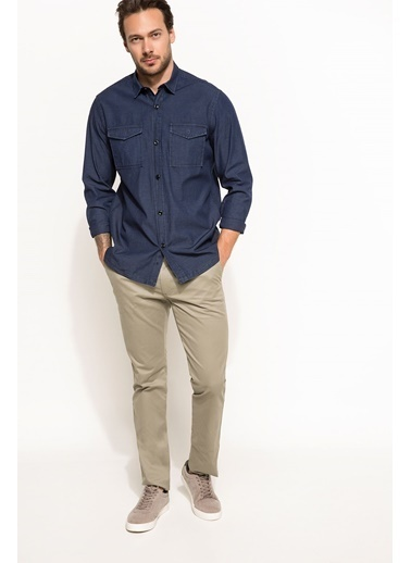 DeFacto Cep Detaylı Gömlek Mavi